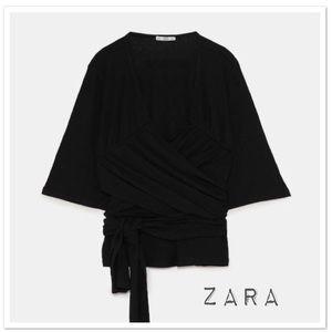 Zara Wrap Top with Bow - NWT